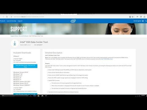 Intel isdct NVMe formatting P4800X under Windows, new NVMe driver VIB  install under ESXi 6 5U1
