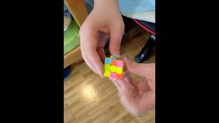 yuxin yuqilin mini 3x3x3 stickerless magic cube speed cube wtih key ring