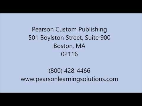 Learning Materials in Boston, MA - (800) 428-4466 - Pearson Custom Publishing