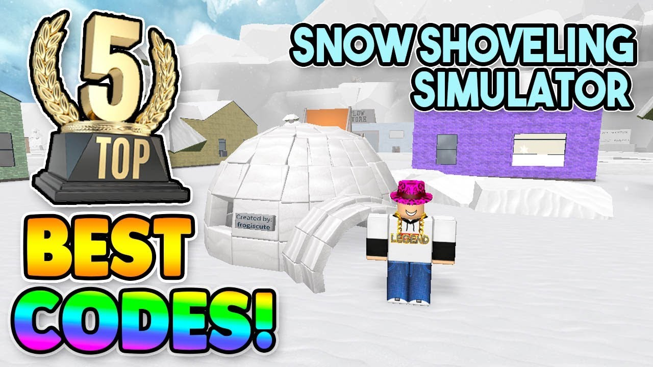 codes for snow shoveling simulator roblox 2019