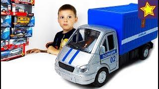 Про полицейские машинки Газель полиция Перевозим преступника Kids police car video