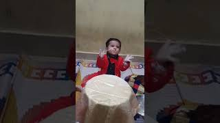 Cute baby boy clapping