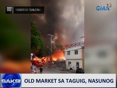 Saksi: Sunog sa Old Market sa Taguig