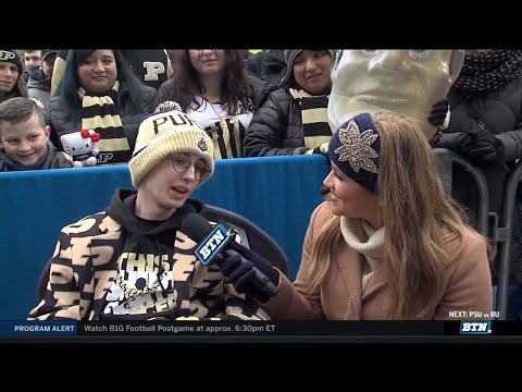 Tyler Trent Joins BTN Tailgate   Purdue   Big Ten Football
