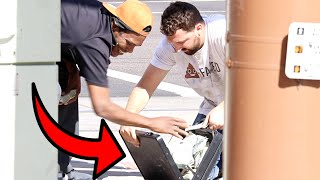HOMELESS MAN DROPPING $1,000,000!!