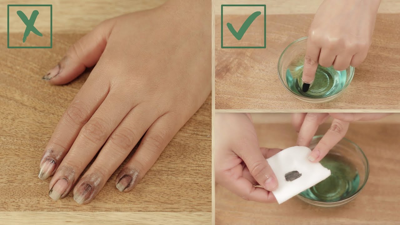 How to Remove Dark Nail Polish Without Staining Your Fingers ...