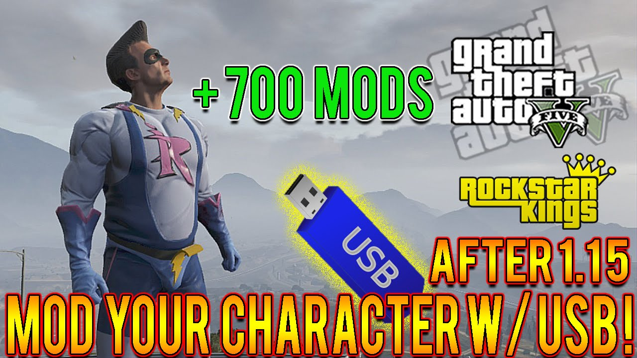GTA 5 Mods How To Mod Your Character USB Only Tutorial! Play