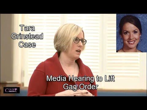 Tara Grinstead Case: Media Hearing to Lift Gag Order 03/16/17