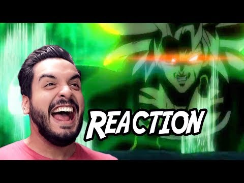 Dragonball Super: Broly Movie (English Dub Reveal) Trailer Reaction!!! - Comic Con 2018