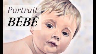 Portrait de Bébé au pastel (+ Réparer une erreur de croquis)