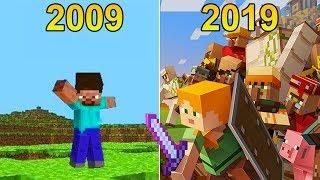 EVOLUÇÃO DO MINECRAFT 2009 A 2019 * mudanças incríveis 😎 *