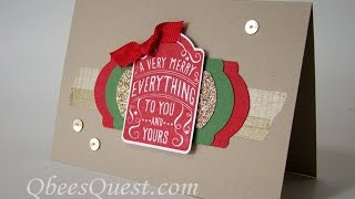 Note Tag Punch Christmas Card