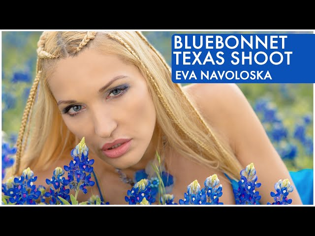 Model Eva Navoloska Bluebonnet In Texas, Music by Steven Vitali