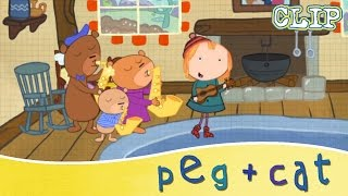 peg cat learning to share with peg and cat