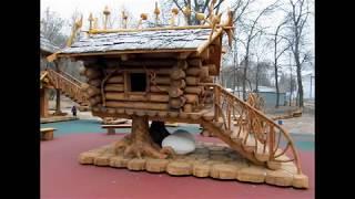 видео Обустраиваем детскую площадку на даче