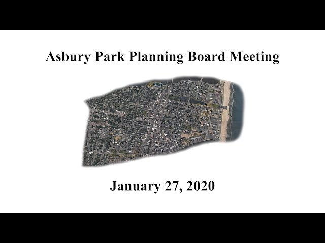 Asbury Park Planning Board - Jan. 27, 2020