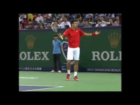 Novak Djokovic Playing Drunk against Del Potro at Shanghai ATP