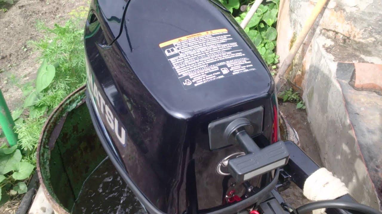 обкатка лодочного 2 тактного мотора возьми видео