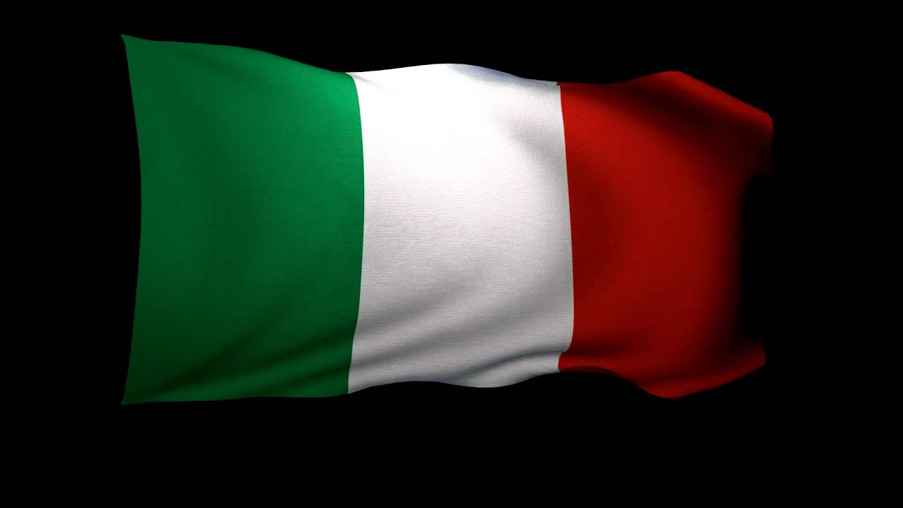 Italian Flag: 3D Rendering Of The Flag Of Italy Waving In The Wind