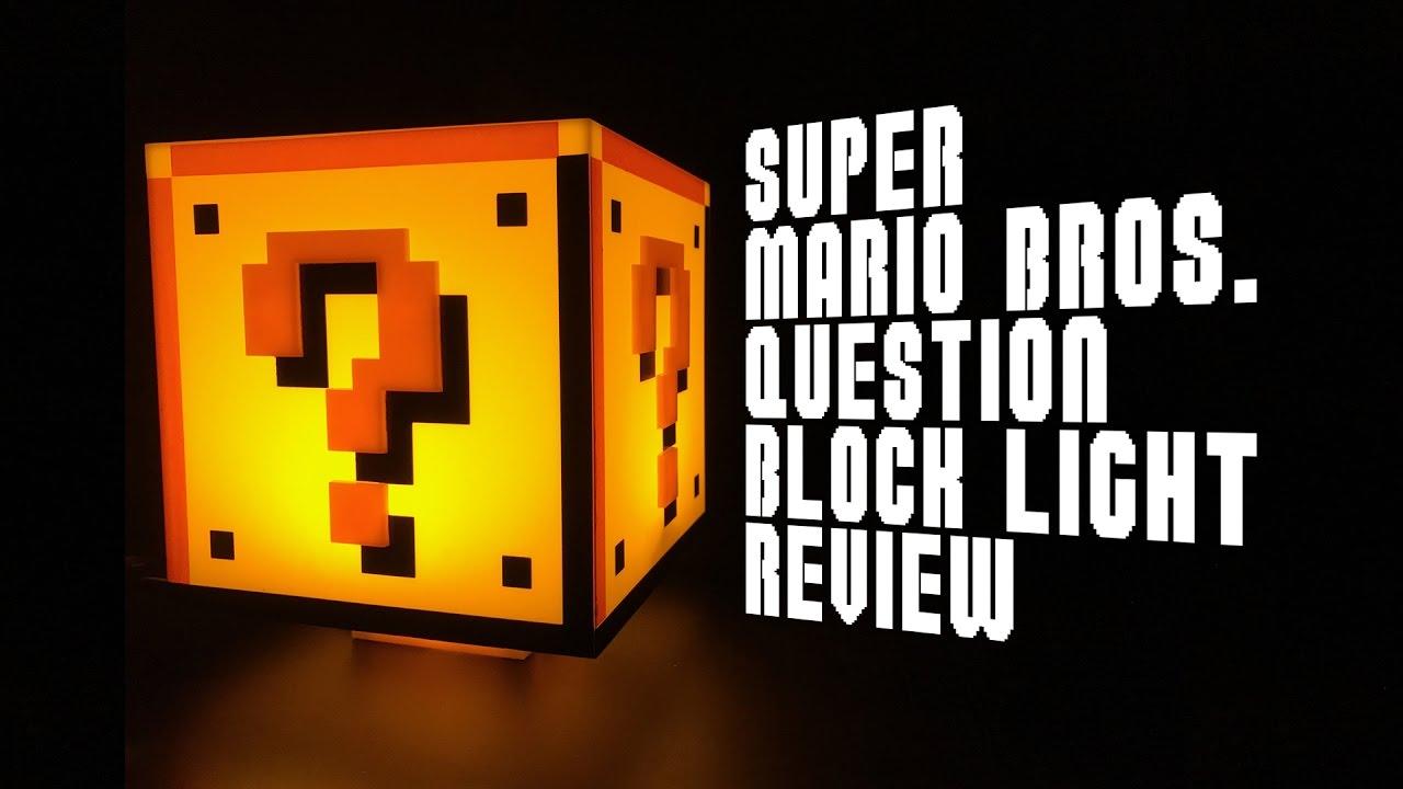 Super Mario Bros Question Block Lamp Review - YouTube