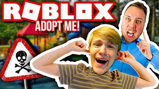 ONE DAY WITH MY SON (HE IS BAD FOR PARKOUR):: Dansk Roblox Adopt Me!