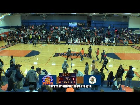 Romeoville High School Varsity Boy's Basketball February 19, 2016