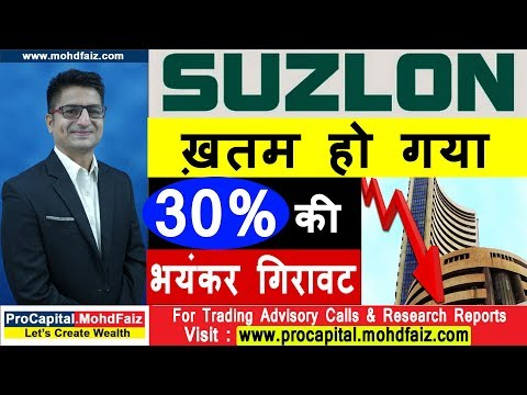 SUZLON  SHARE ख़तम हो गया   30 % की भयंकर गिरावट   SUZLON ENERGY LATEST NEWS
