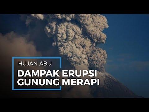 Dampak Erupsi Gunung Merapi Hari Ini, Sejumlah Wilayah Alami Hujan Abu - 동영상