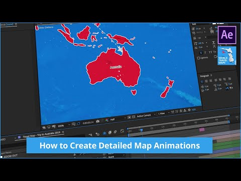 How to Create Detailed Map Animations - World Travel Maps Tutorial