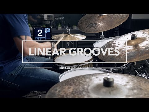 Drum Lesson - Linear Grooves - MikesLessons.com