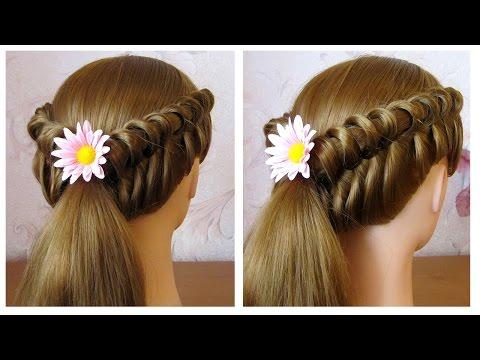 Coiffure facile faire soi m me pour cheveux mi long long coiffure tresse originale youtube - Coiffure facile cheveux mi long a faire soi meme ...