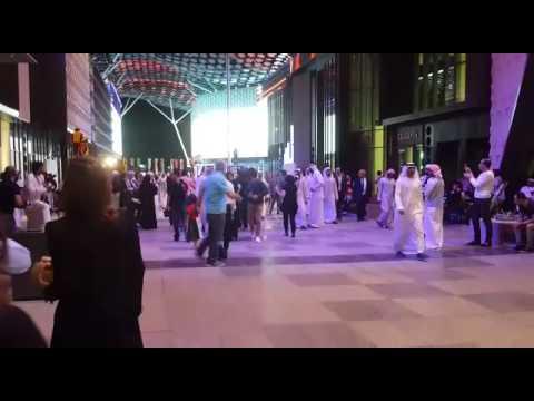 Sheikh Nahyan entering city walk Dubai