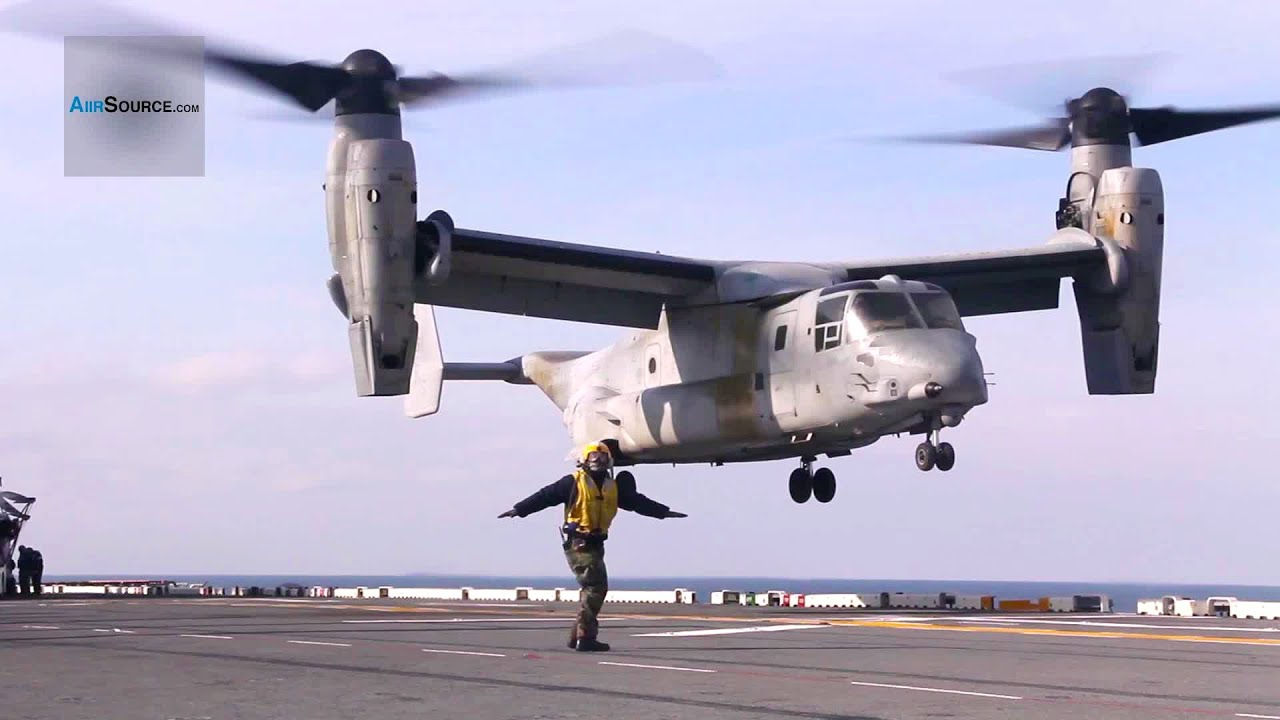 MV-22B Osprey Aircraft takeoff during Flight Deck Operations aboard the USS Kearsarge