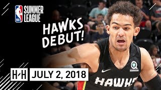 Trae Young Full Hawks Debut Highlights vs Grizzlies (2018.07.02) Summer League - 16 Pts