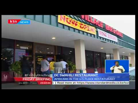 Kenyan restaurant owner in Washington DC hopeful for good business under Trump presidency