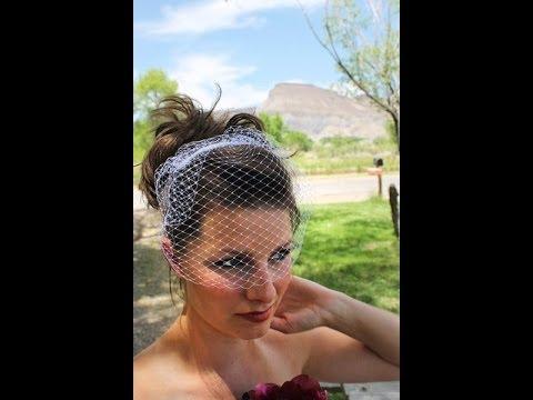 DIY Birdcage Veil Tutorial - YouTube 5dbd845cf45