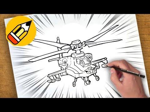 رسم طائرة هليكوبتر تعليم 8