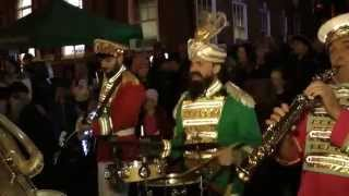 Mr Wilsons Second Liners playing at Congleton Christmas Light switch on