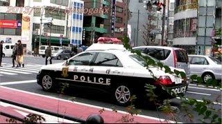 東京警視庁パトカー 消防庁救急車 秋葉原 Japan Tokyo Akihabara Police ambulance car
