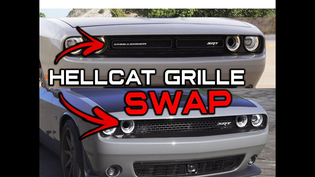Installing A Hellcat Grille On Srt Scatpack Bumper Youtube