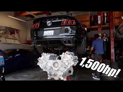 TAKING OUT MY SHELBY GT500 MOTOR IN 10 MIN!