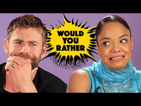 The Cast Of 'Thor: Ragnarok' Plays Superhero Would You Rather