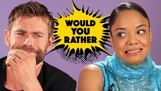 "Video The Cast Of ""Thor: Ragnarok"" Plays Superhero Would You Rather download MP3, 3GP, MP4, WEBM, AVI, FLV Desember 2017"