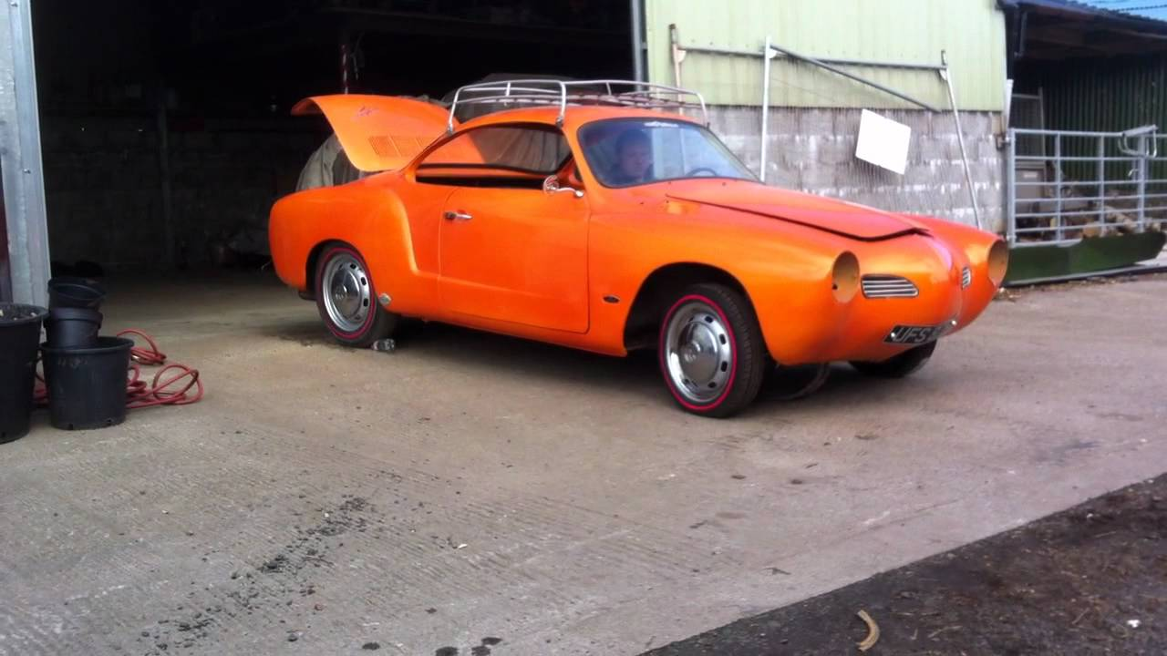 1970 custom karmann ghia hot rod airride orange