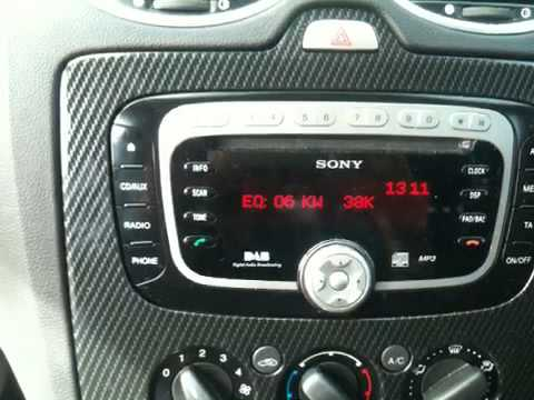 how to get your radio serial number on mk2 ford focus st. Black Bedroom Furniture Sets. Home Design Ideas