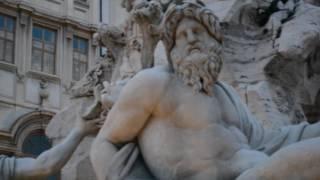 Смотреть видео бернини фонтан четырех рек