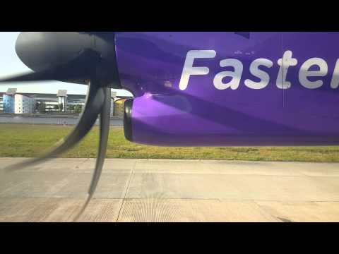 FlyBe DASH Q400 Takeoff from London City Airport