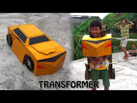 How to Make Cool Kids Transformer Costume Out of Cardboad