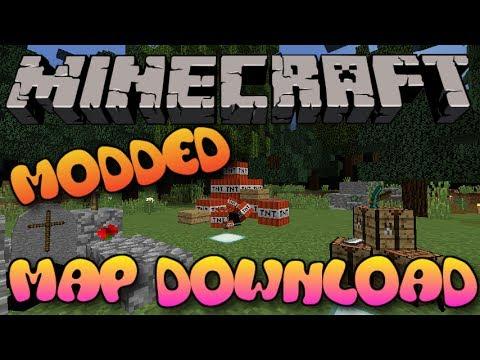 Minecraft Modded MAP WDOWNLOAD Xbox OnePSPS YouTube - Minecraft maps download fur handy