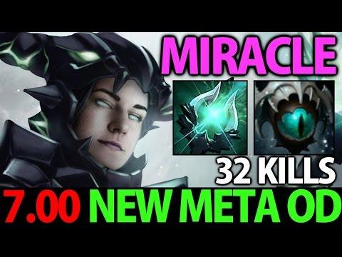 Miracle- Dota2 7.01 [Outworld Devourer] 32 Kills► New Meta OD With Skadi & Helmet of Dominator